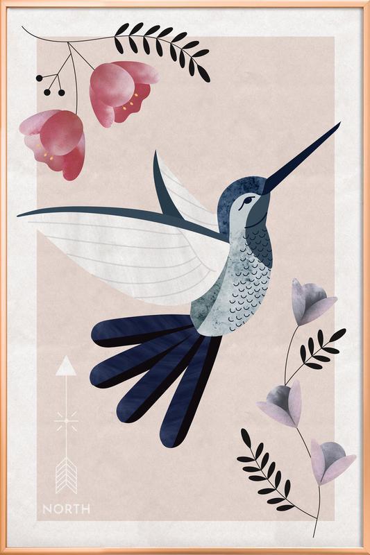 Spirit Animal - Hummingbird poster in aluminium lijst