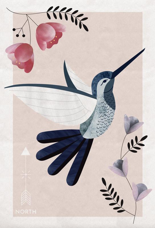 Spirit Animal - Hummingbird -Acrylglasbild