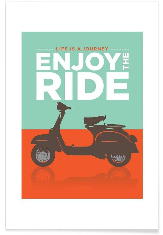 Enjoy the ride - Vespa affiche