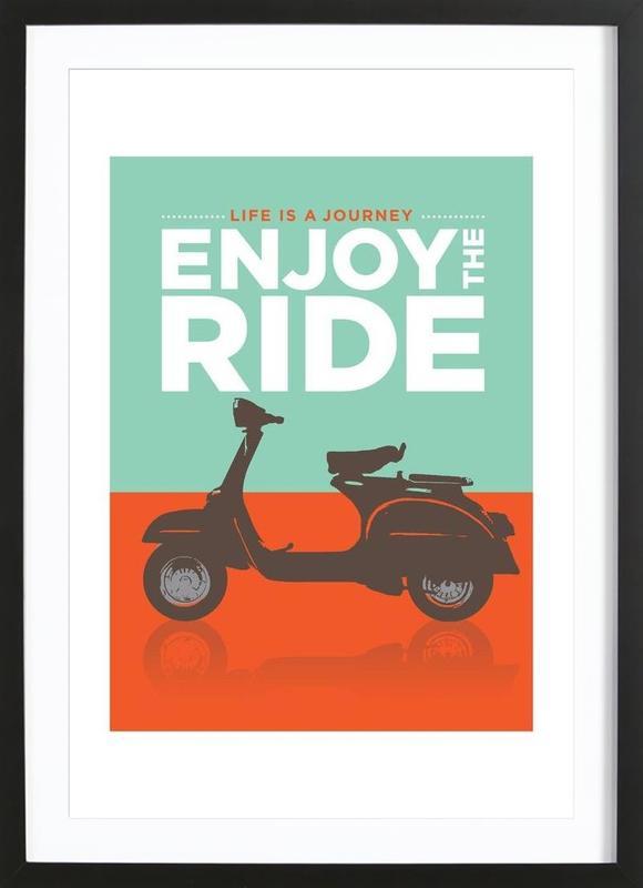 Enjoy the ride - Vespa Framed Print