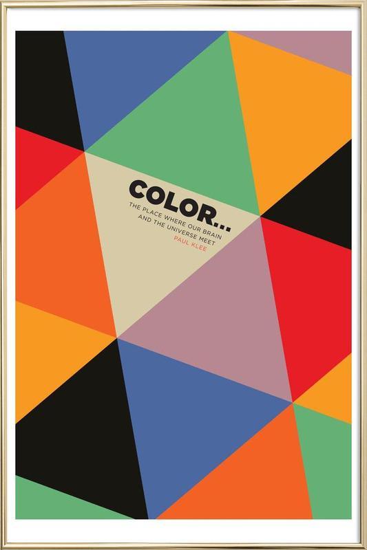 Harlequin Klee -Poster im Alurahmen