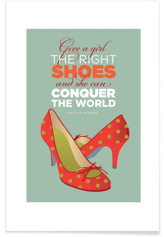Foxes, Marilyn Monroe, Monroe Shoes Poster