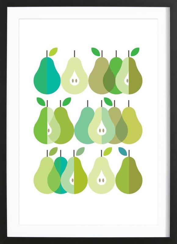 Scandi Pears 1 Framed Print