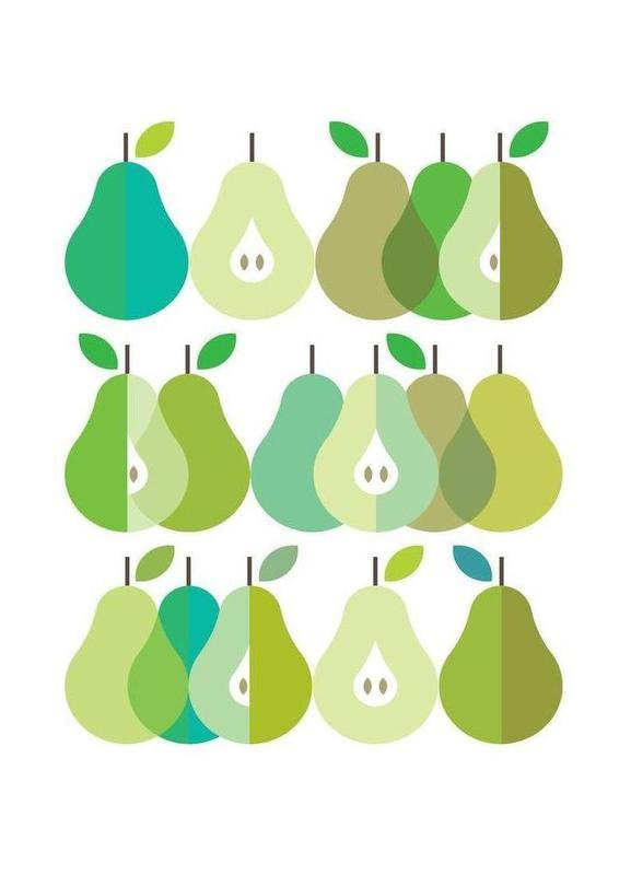 Scandi Pears 1 Canvas Print
