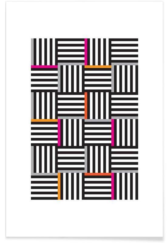 , Zebra Squared -Poster