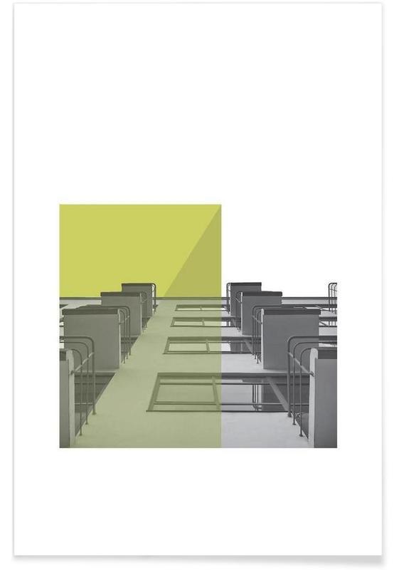 Bauhaus Green Balconies -Poster