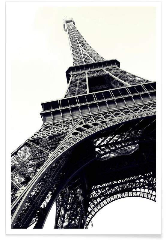 Paris, Schwarz & Weiß, Sehenswürdigkeiten & Wahrzeichen, Tour Eiffel -Poster