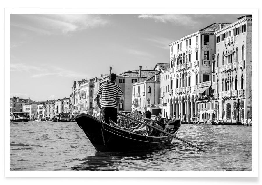 Monuments et vues, Noir & blanc, Venise, Venice affiche