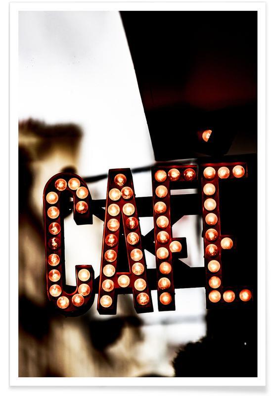 Architekturdetails, Paris, Café -Poster