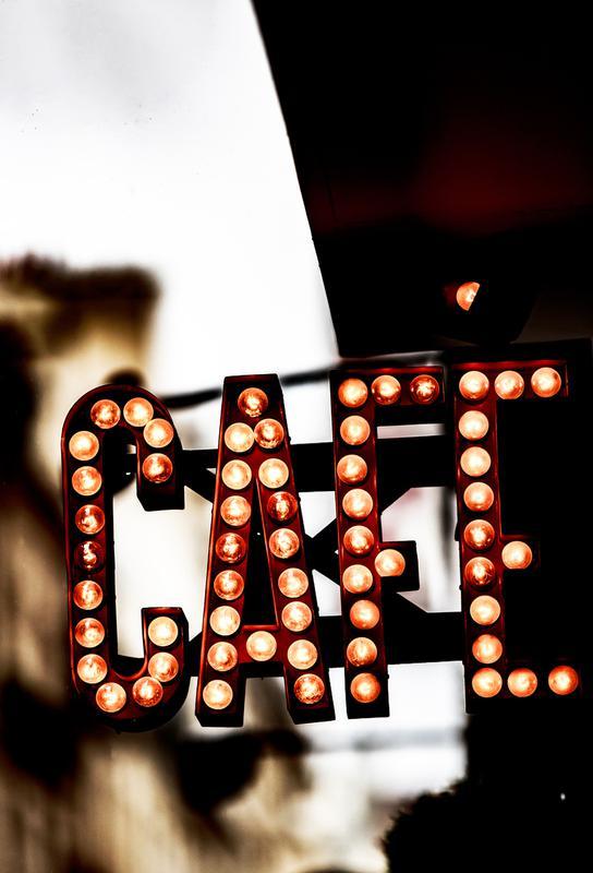 Café -Acrylglasbild