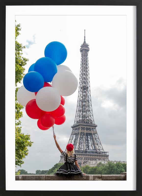 Vive La France -Bild mit Holzrahmen