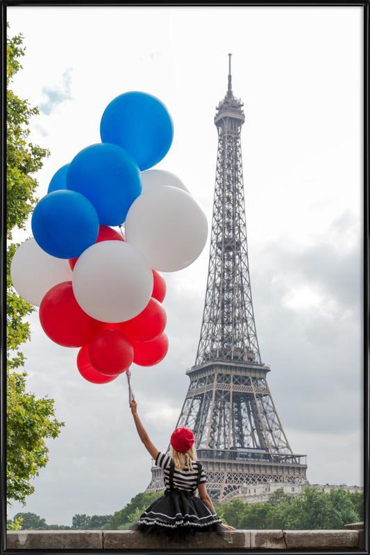 Vive La France -Bild mit Kunststoffrahmen