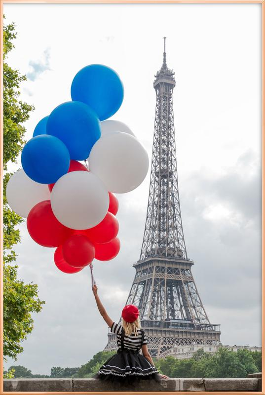 Vive La France -Poster im Alurahmen