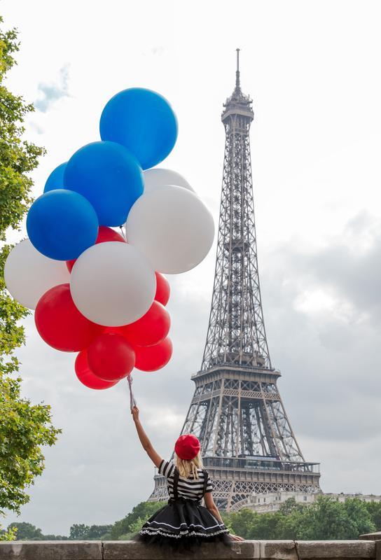 Vive La France -Acrylglasbild
