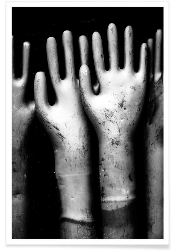 Black & White, Fashion Photography, Hands Poster