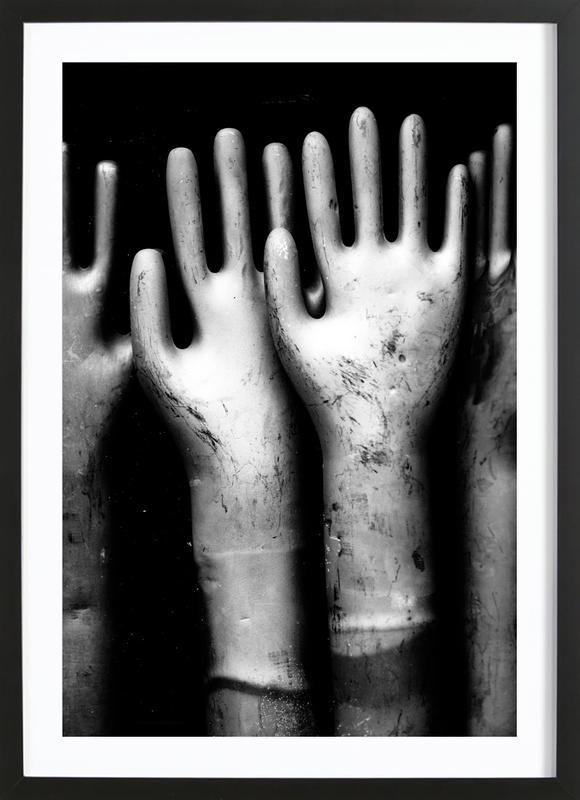 Hands -Bild mit Holzrahmen