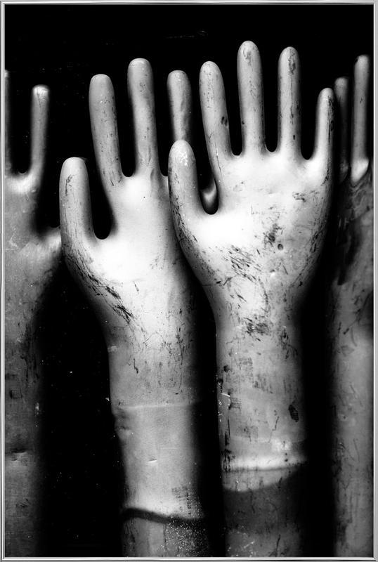 Hands -Poster im Alurahmen