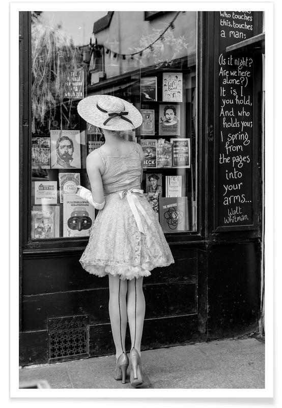 Noir & blanc, Photos de mode, Window Shopping affiche