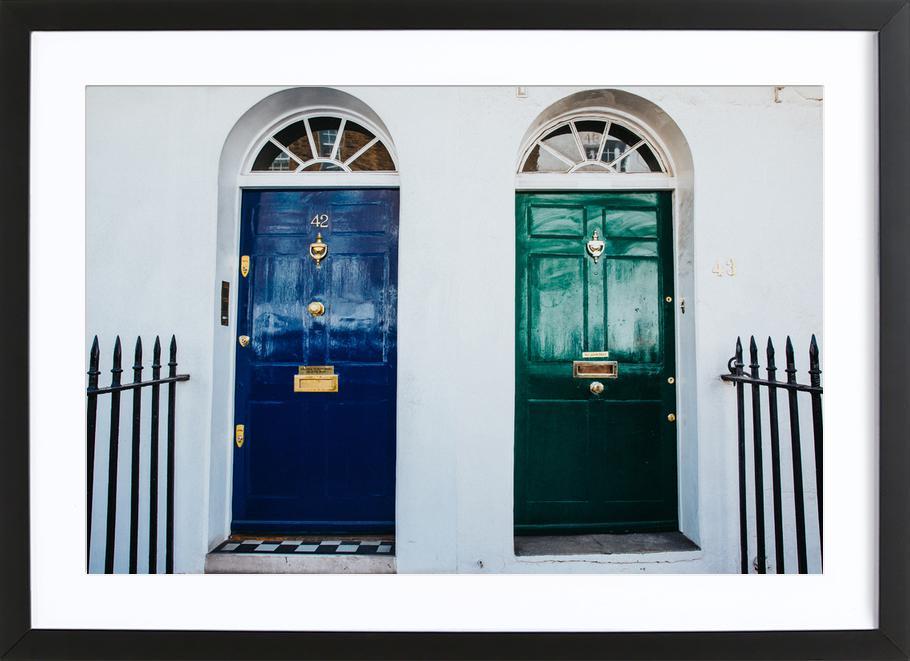 London Doors Framed Print