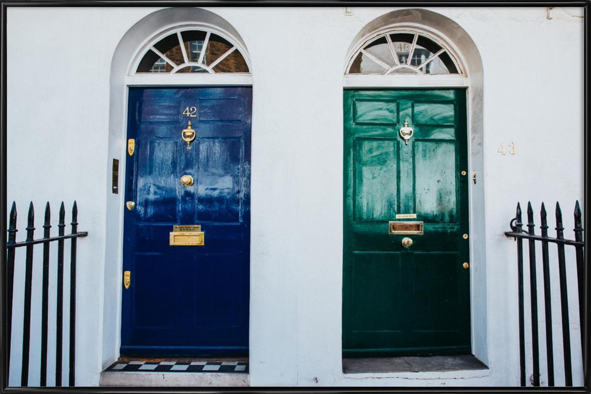 London Doors Framed Poster