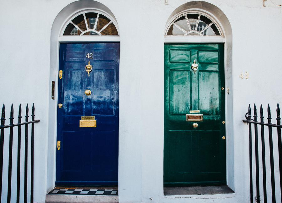 London Doors -Leinwandbild