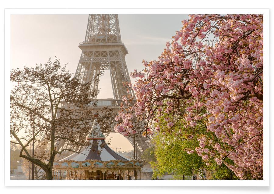 Paris, Détails architecturaux, Rêve, Cherry Blossom affiche
