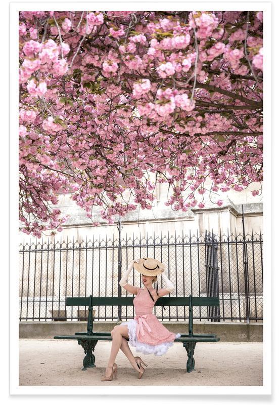 Rêve, Photos de mode, Lady at the Cherry Blossom affiche