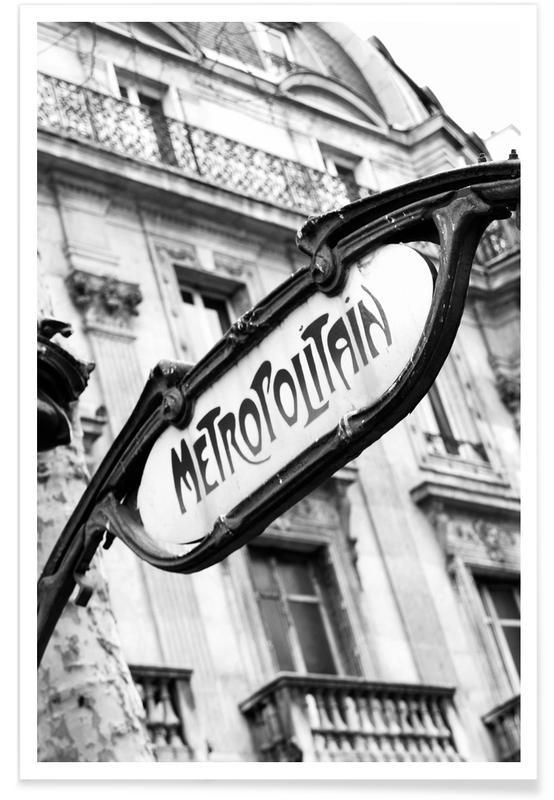 Noir & blanc, Paris, Metropolitain affiche