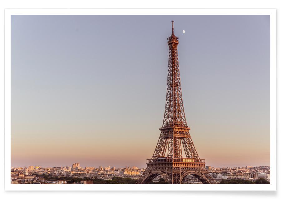 Parijs, Tour Eiffel Sunset poster