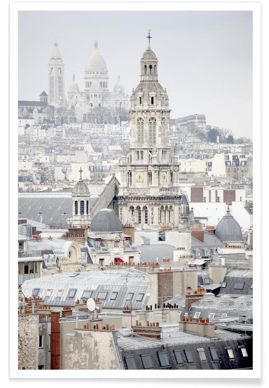 Paris, View Over Paris affiche