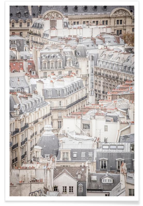 Paris, Rooftops Of Paris -Poster