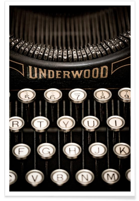 , Underwood Typewriter Poster