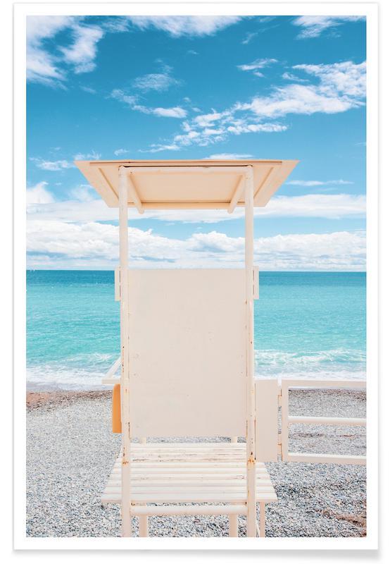 Stranden, Reizen, French Riviera poster