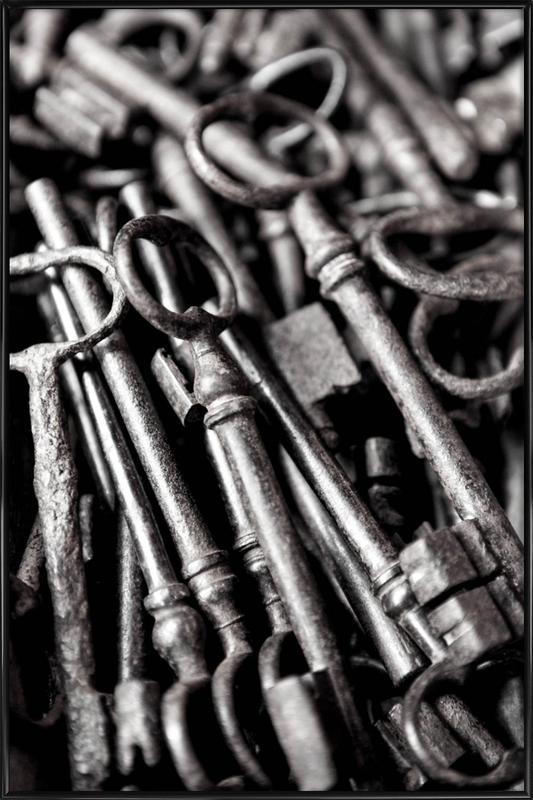 Old Keys -Bild mit Kunststoffrahmen