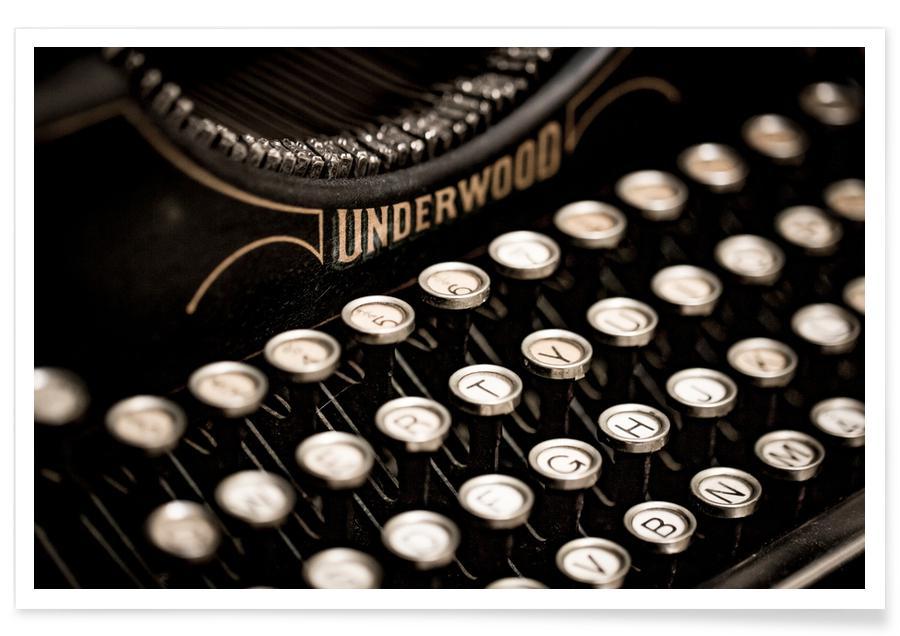 , Vintage Typewriter Poster