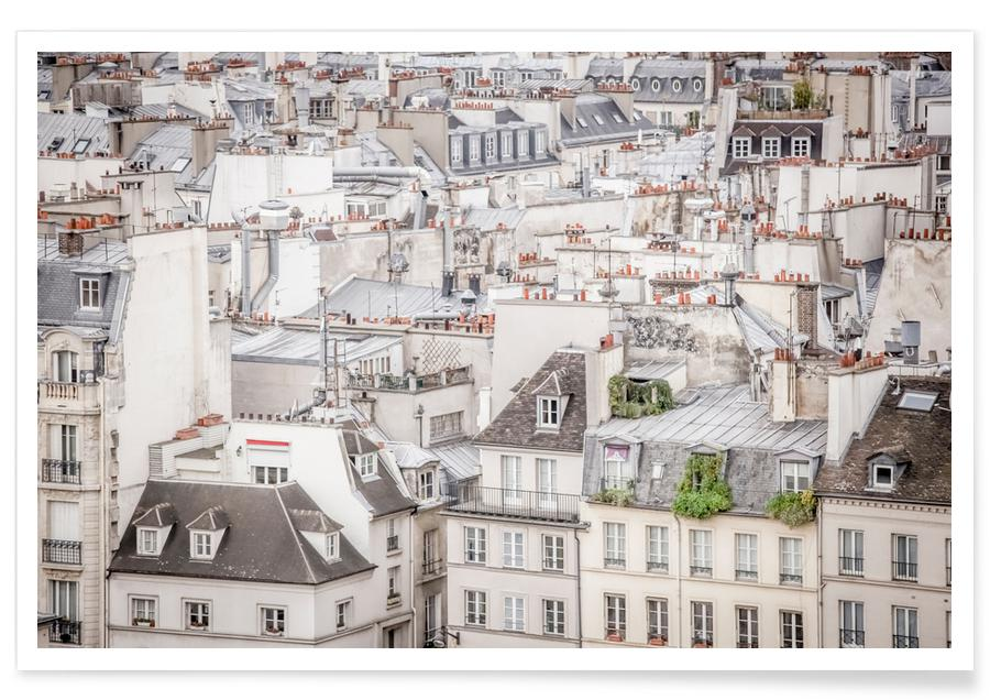 Paris, Roof Tops In Paris affiche