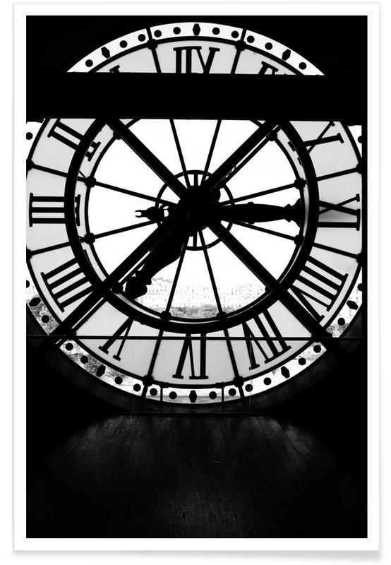 Paris, Monuments et vues, Détails architecturaux, Musée D'Orsay affiche
