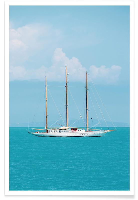Ocean, Lake & Seascape, Boats, Yacht French Riviera Poster