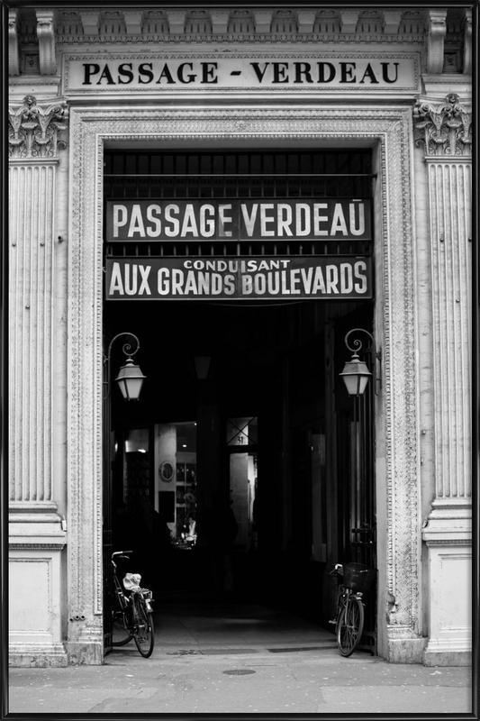 Passage Verdeau -Bild mit Kunststoffrahmen