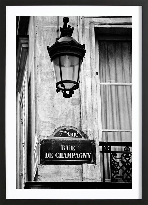 Rue de Champagny -Bild mit Holzrahmen