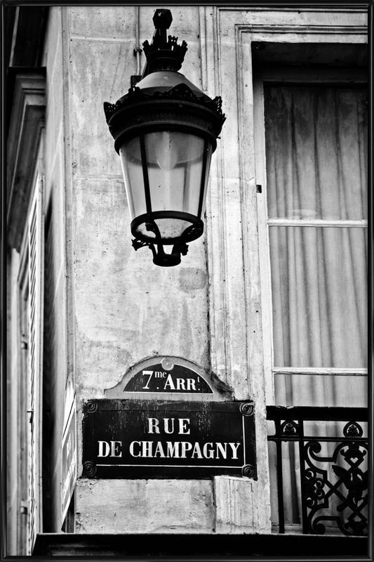 Rue de Champagny -Bild mit Kunststoffrahmen