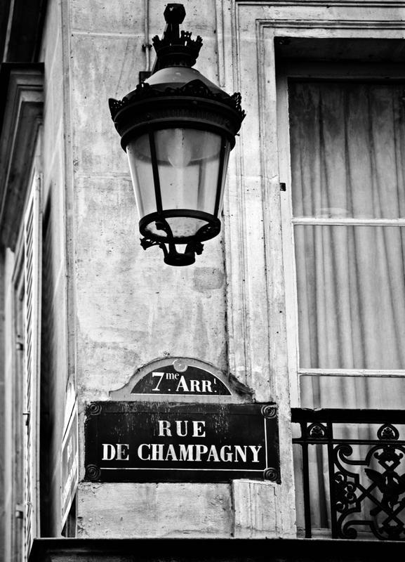 Rue de Champagny -Leinwandbild
