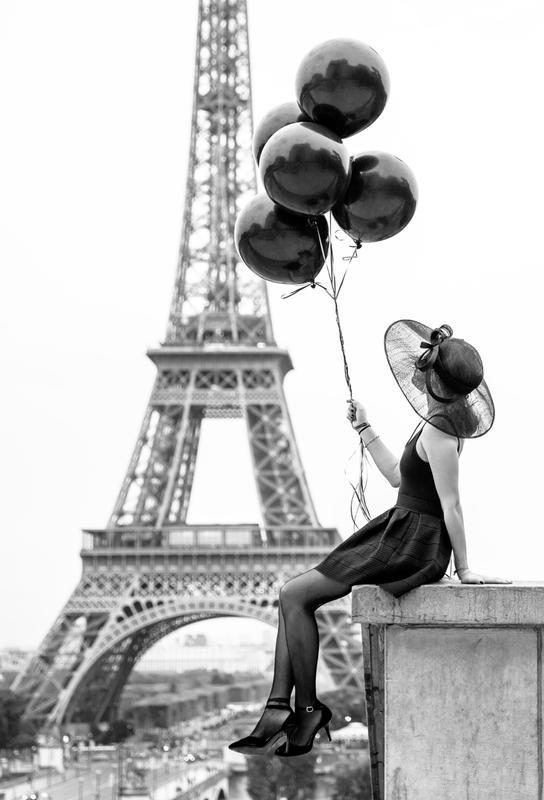 Black Balloons -Acrylglasbild
