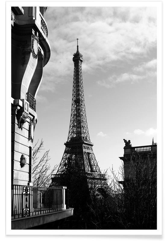 Paris, Schwarz & Weiß, Sehenswürdigkeiten & Wahrzeichen, Paris -Poster