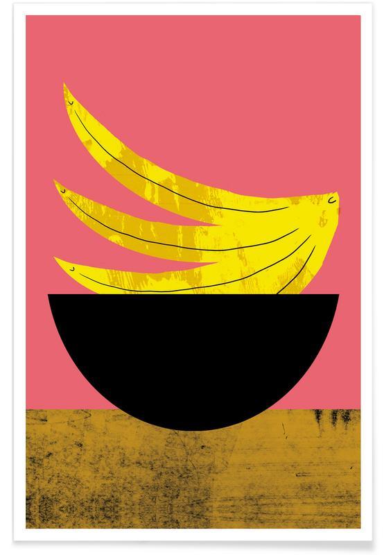 Bananas, Banana Illustration Poster