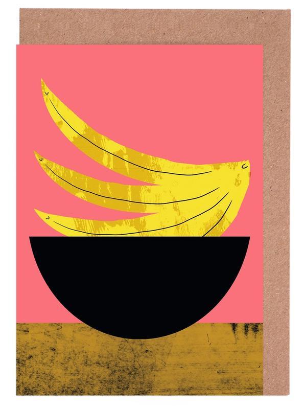 Banana Greeting Card Set