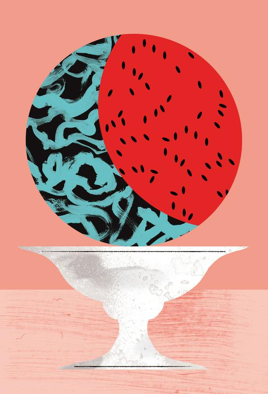 Watermelon Impression sur alu-Dibond