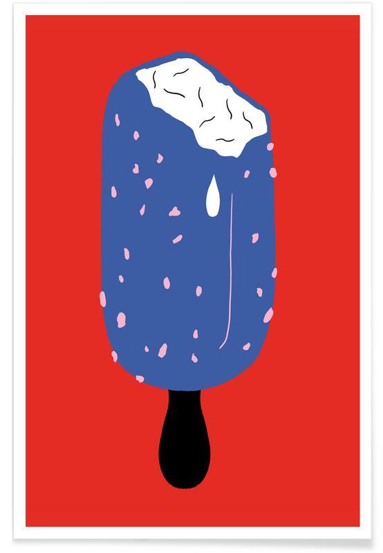 Crispy Ice Cream Illustration Poster