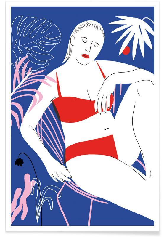 Dame und Stuhl-Illustration -Poster