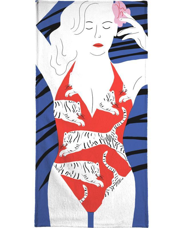 Hot Hot Summer - Lady and Tiger serviette de bain